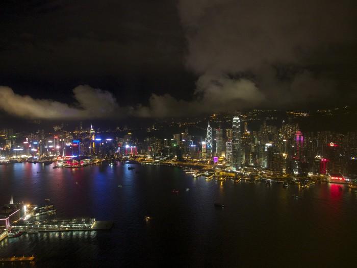 ▲香港の夜景。