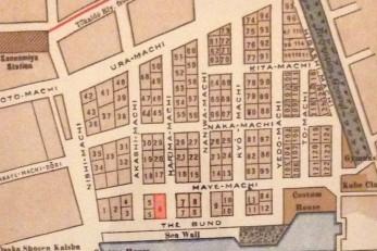 昔のオリエンタルホテル周辺の地図