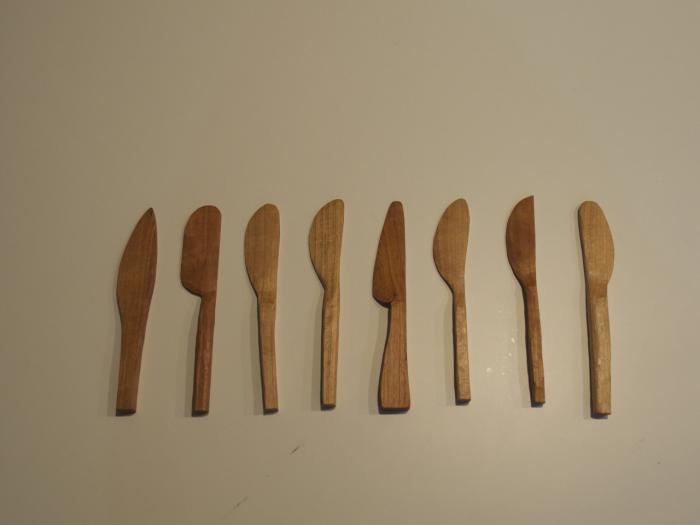 それぞれに個性のあるバターナイフが完成!